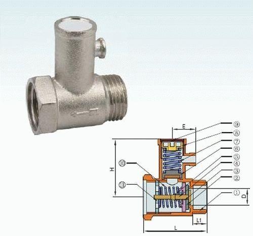 Правильная установка клапана на бойлер