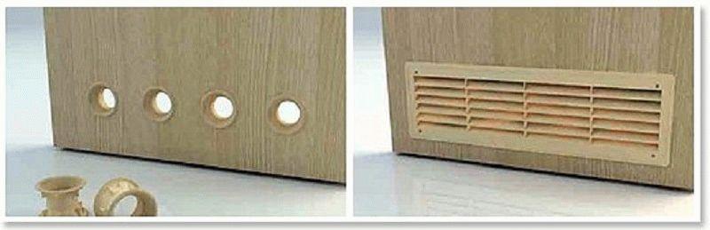 чем сделать отверстие в двери для вентиляции викторина